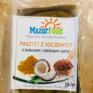 Pasztet z zielonej soczewicy z kokosem i zielonym curry 150g Mazur Food