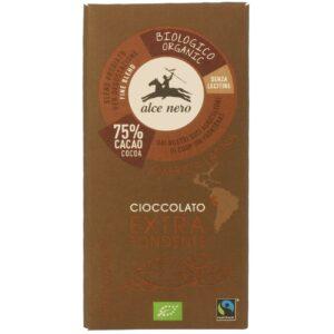 Czekolada gorzka 75% Fair Trade bio 100g Alce Nero