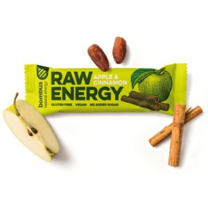 Baton RAW Energy jabłko-cynamon 50g Bombus