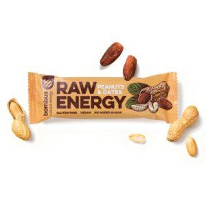 Baton RAW Energy orzech ziemny-daktyl 50g Bombus