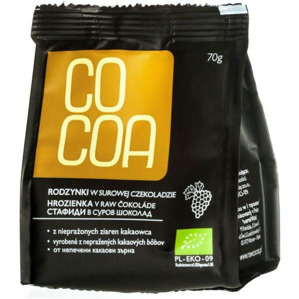 Rodzynki w surowej czekoladzie 70g Cocoa