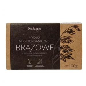 Mydło mikroorganiczne brązowe z borowiną i zbożami kostka 100g Probiotics